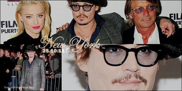 """. """"The Rum Diary"""" : Les Premières MondialesEn présence de Johnny Depp, Amber Heard et Bruce Robinson ."""