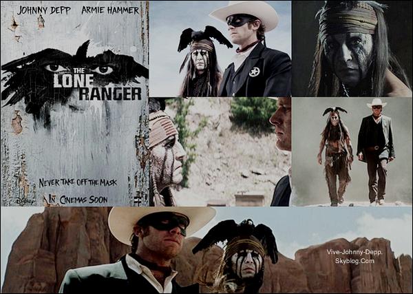 . Lone Ranger : Les Nouvelles___Le tournage de The Lone Ranger, avec Johnny Depp et Armie Hammer, est enfin terminé. Le tournage avait démarré en Février et s'est enfin terminé ce weekend !. Souvenez-vous, ce blockbuster produit par Disney n'a cessé de faire parler de lui pour ses multiples problèmes. En effet, le studio réduisait sans arrêt le budget du film à 215 millions de dollars, et ne cessait de repousser le début des prises de vue. Et pourtant le film est enfin mit en boîte. La cause de ce tournage si long, fut une tempète de sable cet été qui a contraint le réalisateur Gore Verbinski à décaler des jours entiers de travail. Malgré tout ceci, le film est bel et bien prévue pour 2013. Il sortira dans nos salles le 7 Aoüt 2013. Disney nous dévoile ces premières photos que je trouve absolument magnifiques, notamment l'affiche ainsi que la photo de Johnny dans la peau de l'Indien Tonto. .