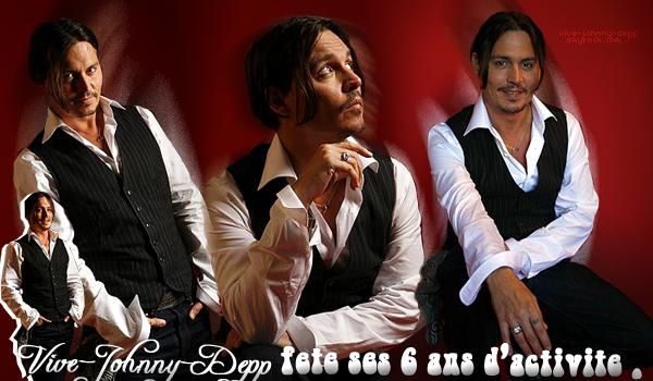 . Lundi 4 Février 2013 : Vive-Johnny-Depp a 6 ans !.