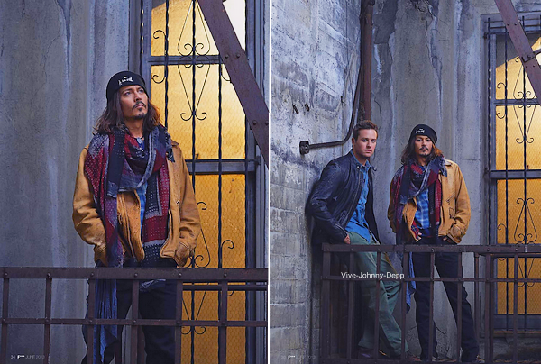 . 30 Mai 2013 : Nouveau Photoshoot avec Armie Hammer pour The Lone RangerPhotos magnifiques réalisées par Peter Mountain .