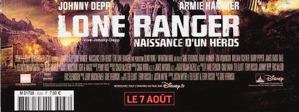 . Johnny est en couverture de Le Film Français avec Armie Hammer et Helena Bonham Carter pour The Lone Ranger.