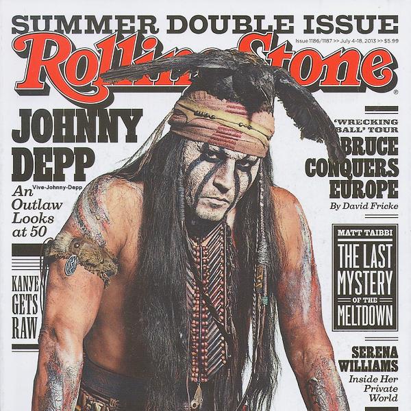 . Johnny est en couverture de Rolling Stone pour The Lone Ranger.