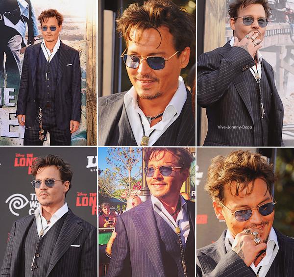. 22 Juin 2013 : Johnny était à l'Avant-Première de The Lone Ranger en Californie.