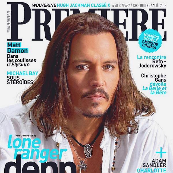 . Johnny est en couverture de Première pour The Lone Ranger.