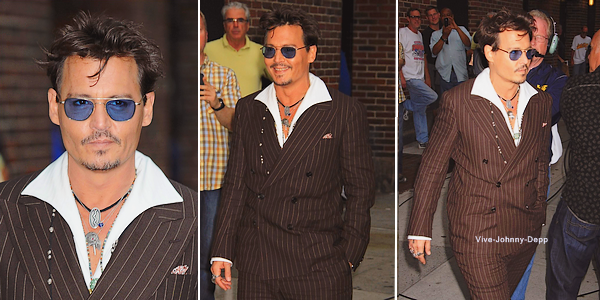 . 25 Juin 2013 : Johnny était au David Letterman Show à New-York.