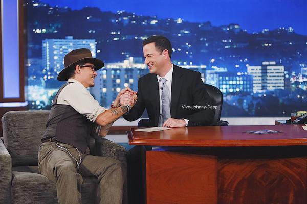 . o2 Juillet 2013 : Johnny était au Jimmy Kimmel Show.