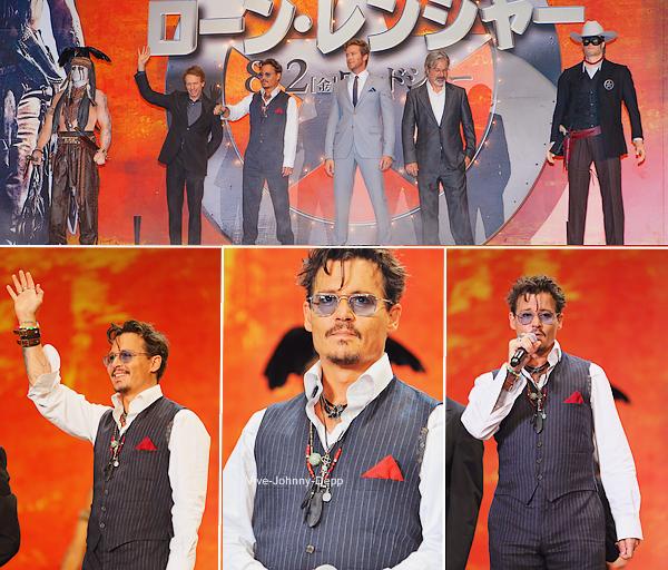 . 17 Juillet 2013 : Johnny était à l'Avant-Première de The Lone Ranger à Tokyo.