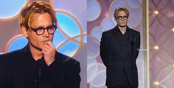 . 12.01.14 : Johnny était à la 71e Cérémonie des Golden GlobesIl a remis le prix Meilleur film - Drame au film 12 Years a Slave de Steve McQueen .