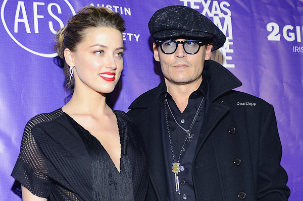 . 06.03.14 : Johnny et Amber étaient au Texas Film Awards 2014.