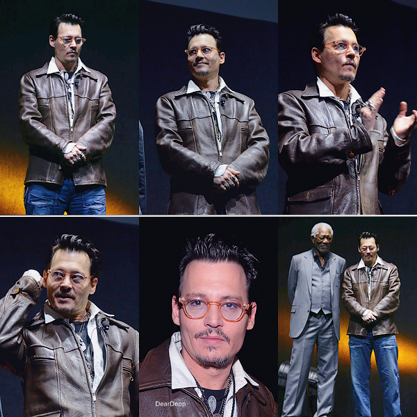 . 27.03.14 : Johnny était au CinemaCon 2014 pour la promotion de Transcendance.