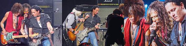 . 16.07.14 : Johnny monte sur scène avec Aerosmith à Boston.