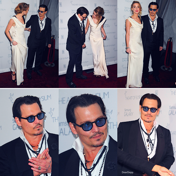 . 10.01.15 : Johnny et Amber au Art of Elysium Heaven Gala à Los Angeles.