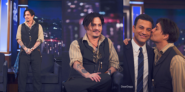 . 15.01.15 : Johnny était au Jimmy Kimmel Show.