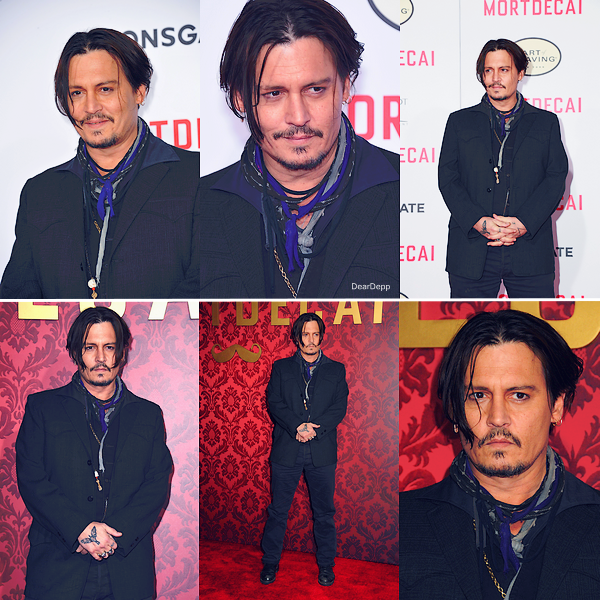 . 21.01.15 : Johnny était à Los Angeles pour la promotion de Charlie Mortdecai.