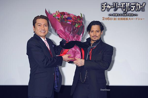 . 27.01.15 : Johnny était à Tokyo pour la promotion de Charlie Mortdecai.