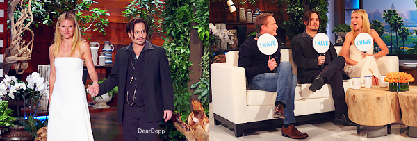 . 22.01.15 : Johnny était sur le plateau de The Ellen Show pour la promotion de Charlie Mortdecai, avec Gwyneth Paltrow et Paul Bettany.