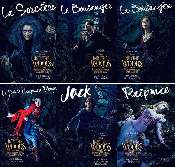 . Into The Woods : Les NouvellesAvalanche de Posters pour le film sorti le Mercredi 28 Janvier 2015. .
