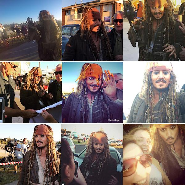 . Sur le tournage de Pirates des Caraïbes 5 : Dead Men Tell No Tales.