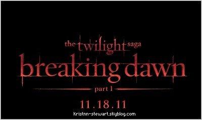 ACTUALITÉ : Le logo officiel de Breaking Dawn, est sorti il y a peut. Pour cette occasion, j'ai essayé de faire un montage représentant Bella Swan-Cullen, en vampire.