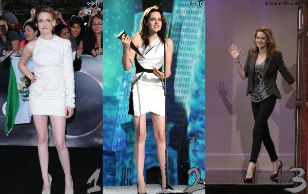 En 2010, Kristen a porté plusieurs tenues, laquelle préféres tu ?