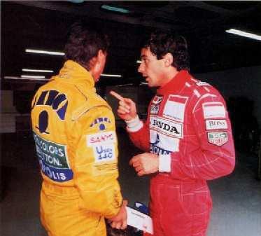 Senna et Schumacher
