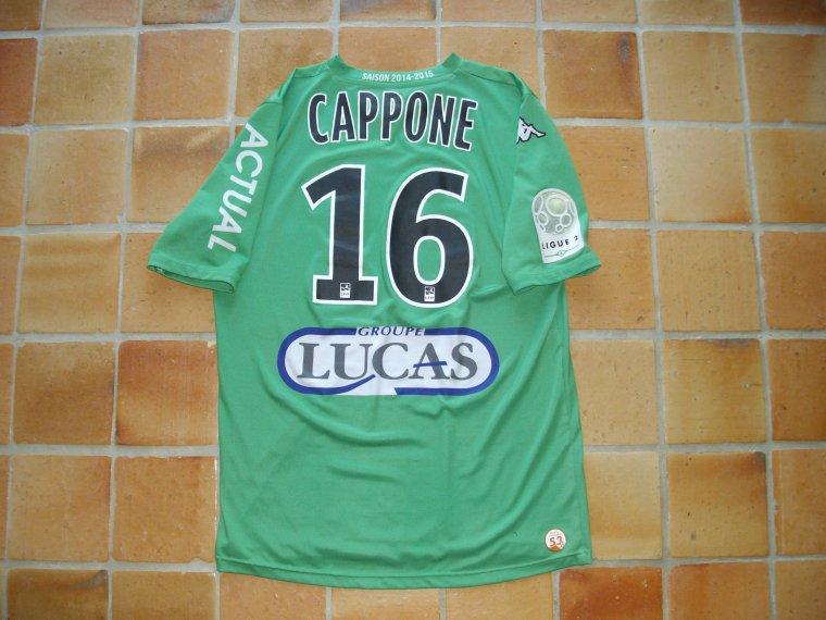 Maillot porté par Lionel CAPPONE avec le Stade Lavallois