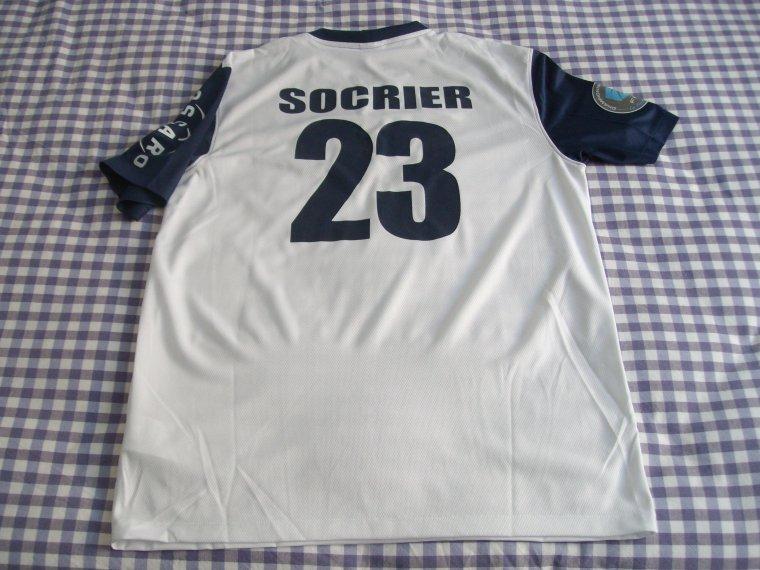 Maillot porté par Richard Socrier avec le Paris FC
