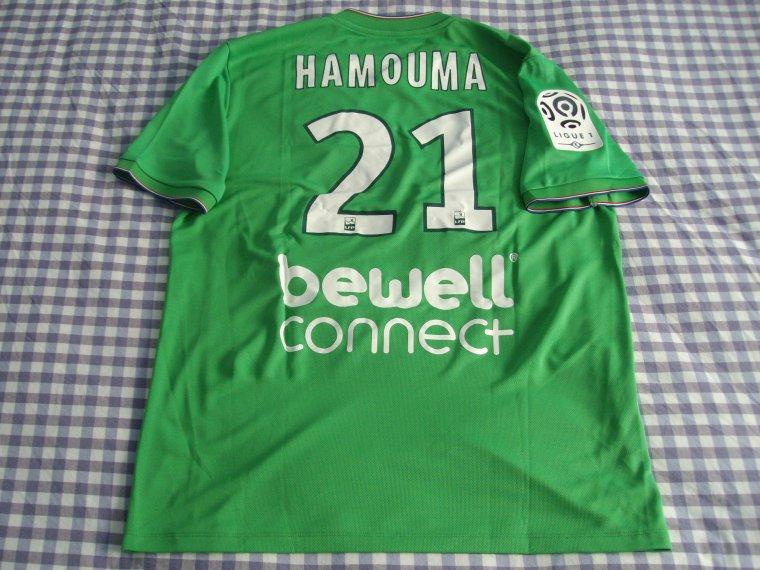 Maillot de Romain Hamouma porté avec l'AS Saint-Etienne