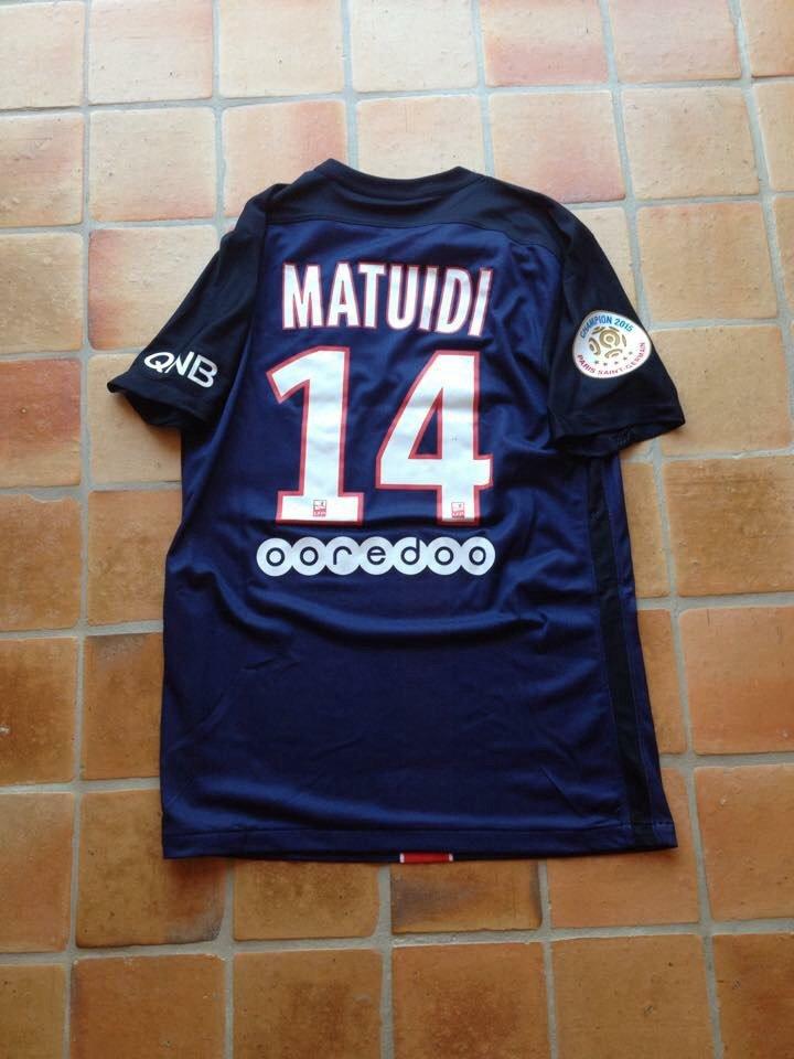 Maillot de Matuidi porté avec le Paris SG