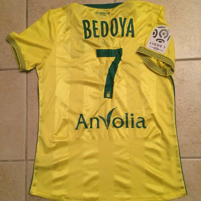 Maillot de Bedoya porté avec Nantes
