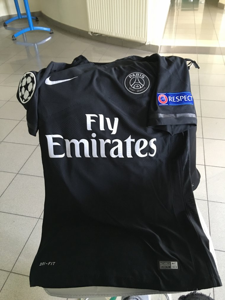 Maillot de Blaise Matuidi porté avec le Paris Saint-Germain en ligue des champions