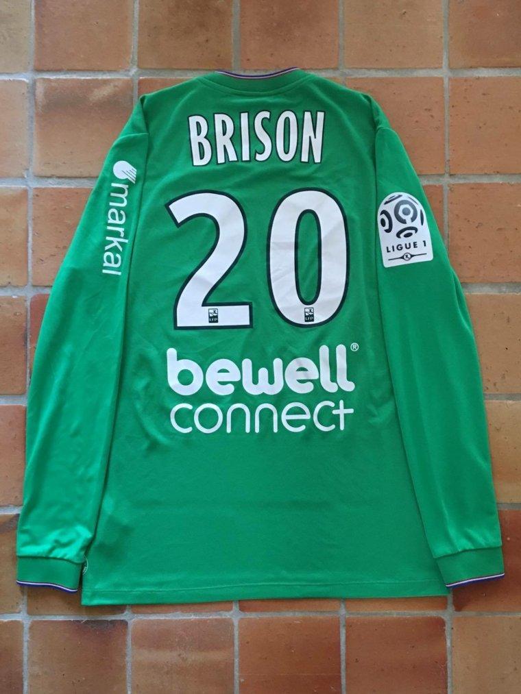 Maillot de Jonathan Brison porté avec l'AS Saint-Étienne