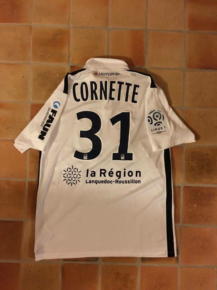 Maillot préparé pour Quentin Cornette avec Montpellier