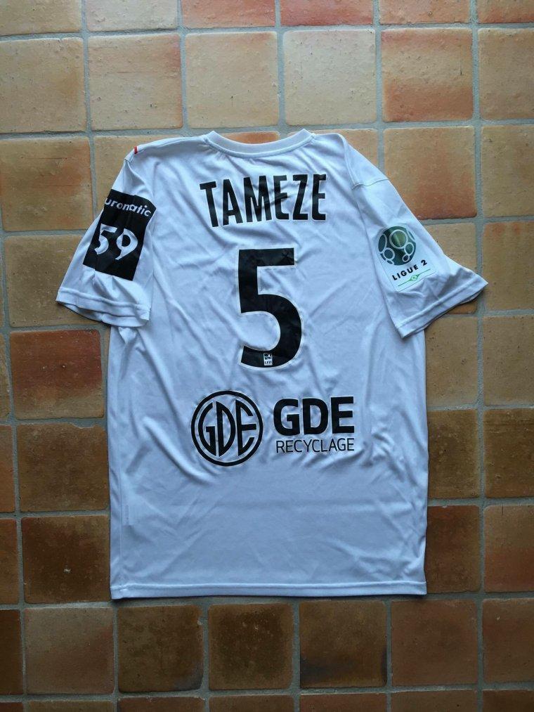Maillot porté par Adrien Tameze avec Valenciennes