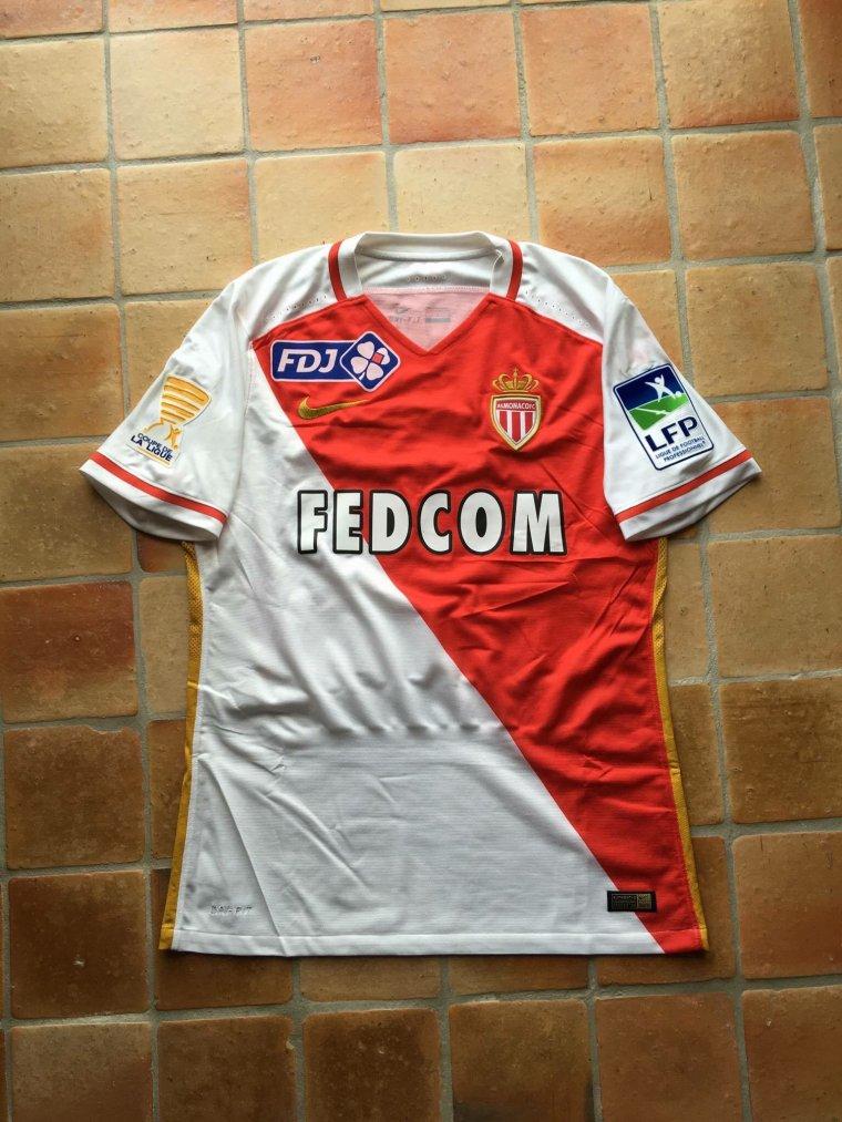Maillot de Ricardo Carvalho porté avec Monaco