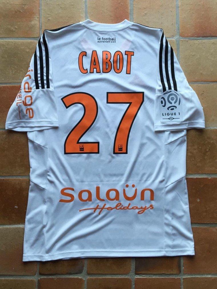 Maillot porté par Jimmy Cabot avec Lorient