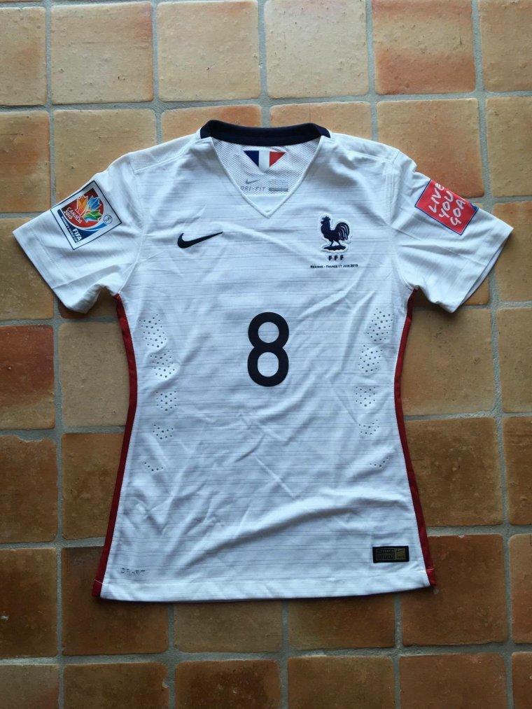 Maillot porté par Jessica Houara-d'Hommeaux avec l'équipe de France