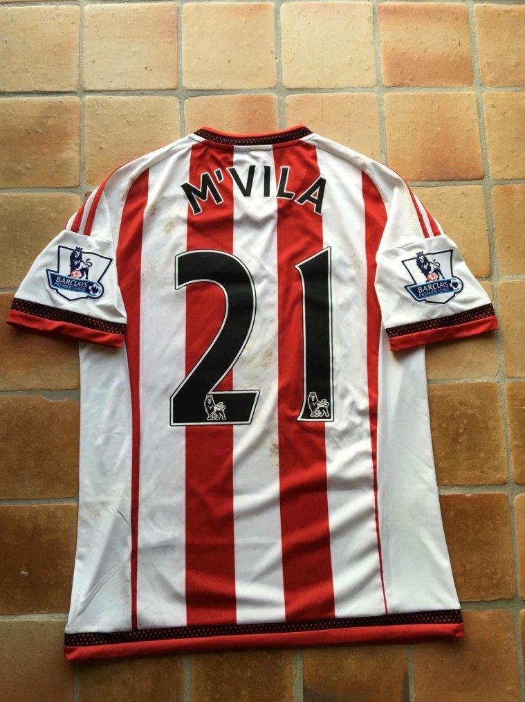 Maillot de Yann M'Vila porté avec Sunderland