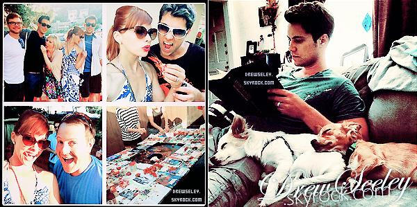 *Drew et sa magnifique femme Amy ont postés de nombreuses photos via leur instagram.J'aime beaucoup ses photos, elles sont vraiment très belle. Un gros coup de coeur pour la deuxième. *