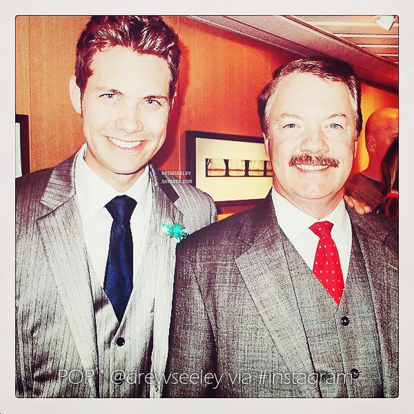 *HAPPY FATHER'S DAY EVERYONE! 16 Juin 2013 - Pour la fêtes des pères notre chère Drew à posté une photo de lui et de son père via instagram.*