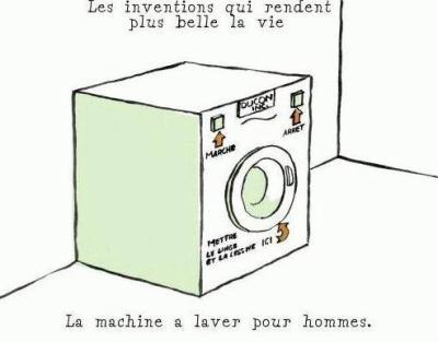 La machine a laver pour les hommes blog d 39 humour de galou for Machine pour laver le carrelage