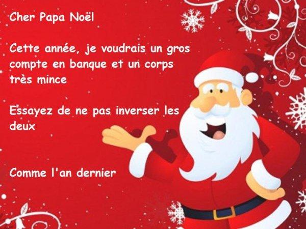 Lettre au papa noel blog d 39 humour de galou - Image humoristique pere noel ...