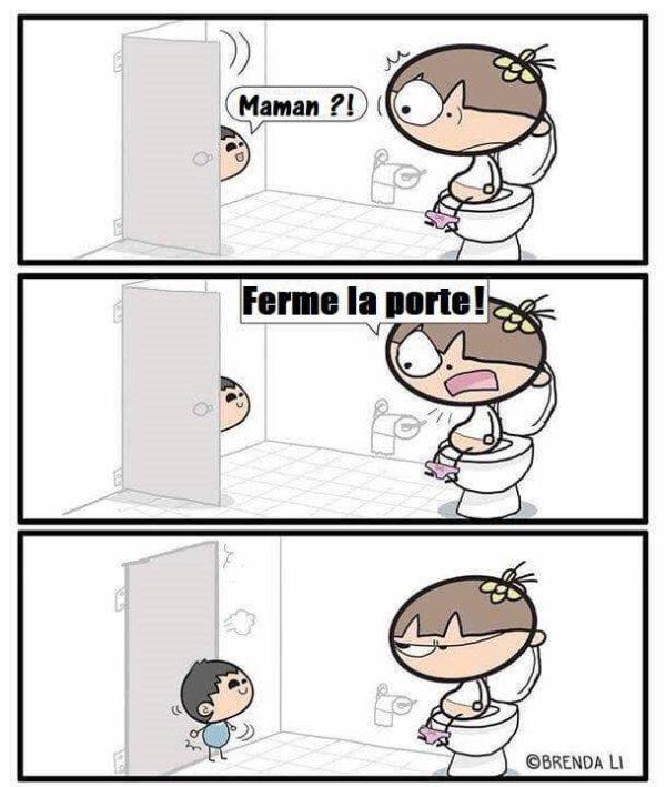 maman au wc