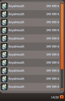 Le Royalmouth c'est fait détronner !