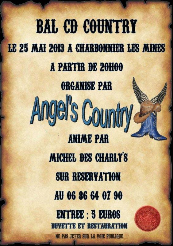 JAMAIS 203 POUR LA 3éme ANNEE LES ANGEL'S ORGANISENT LEUR BAL CD COUNTRY ANNIME PAR MICHEL