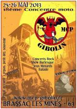 NOS AMIS LES GIBOLINS FONT LEUR GRANDE CONCENTRATION MOTO LE 25 ET 26 MAI J'ESPERE POUR EUX QU'IL FERA BEAU !!!!!!!!!