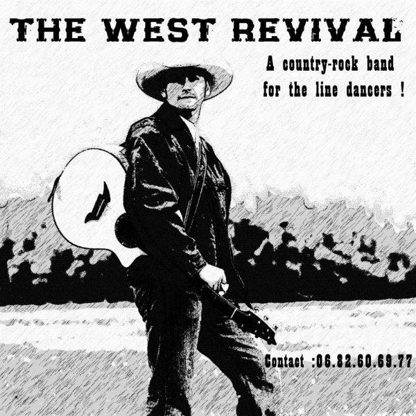 """APRES LES WEST FARMERS LES WEST REVIVAL DANS NOTRE RÉGION 63 AVEC Denis Cusumano   Après avoir sillonné les routes durant dix ans et avoir fait danser les aficionados de la country line dance , The West Farmers rangeaint leurs bottes et leurs guitares . Un vide glacial envahit la région .... Cependant , trois """" Revival """", Jacques , Eric et Denis , dans un nouveau souffle , ont décidé de continuer l'aventure ! Trois nouveaux musiciens , Vivien , François et Vincent , ont rejoint les rebelles pour écrire une nouvelle page :  THE WEST REVIVAL  Un an plus tard , jour pour jour , ils reviennent sur la scène du Galion à Gerzat le dimanche 7 février 2016 pour présenter leur nouveau répertoire .  Fidèles à leurs valeurs , ils enchanterons les danseurs et les amoureux de la musique LIVE avec le meilleur de la country rock music !  THE WEST REVIVAL  Six musiciens sur scène : VINCENT : chant , harmonica VIVIEN : guitares FRANCOIS : basse JACQUES : claviers , chant ERIC : guitares , chant DENIS : batterie  THE WEST REVIVAL"""