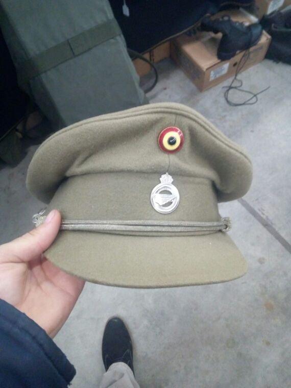 Casquette officier des services de transport de l'armée Belge
