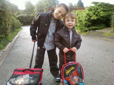 mes enfants lucas et mike