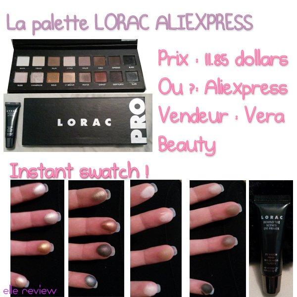Lorac pro palette [Aliexpress bon plan]